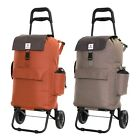 Foldaway Insulated 2 Wheels Shopping Grocery Luggage Carrier Cart Trolley Bag