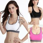 Womens Padded Bra Top Athletic Vest Gym Fitness Sports Yoga Dance Tank Top S/M/L