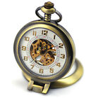 SOKI Magnifier Front Case For Grandfather Bronze Mechanical Pocket Watch