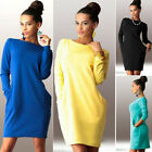 Womens Spring Casual Long Sleeve Evening Party Dresses Cocktail Mini Dress Tops