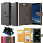 For Samsung Galaxy S8 Note 8 Double Card Book Flip leather wallet Case Cover