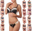 Satin Superboost Multiway Spitze Extrem Push Up BH Satz Set Tanga Schlüpfer