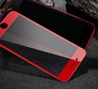 Red Full Cover Curved Films Tempered Glass Screen Protector For iphone 7/7 plus