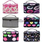 Women Cosmetic Makeup Bag Case Travel Toiletry Wash Holder Handbag Organizer TIN