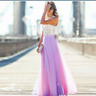 Women's Evening Dresses Formal Party Gown Prom Bridesmaid Lace Sleeveless Dress