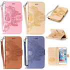 Skull Flip Stand Hybrid Wallet Leather Case Cover for iPhone 5 5S 6 6S 7 Plus
