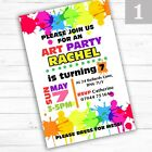 Personalised Childrens Birthday Art Party Invitations Invites