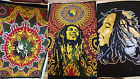 100% Cotton Bob Marley SINGLE Bed Sheet Spread Blanket Rasta Irie Ganja Lion x 1