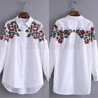 AU 8-18 Womens Ladies Casual Floral Printing Shirts Formal Dress T-shirt Top Tee