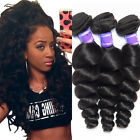 Virgin Brazilian Hair Weave 150g/3Bundles Loose Wave 100% Human Hair Extensions