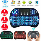 2.4G Mini Wireless Backlit Keyboard Air Mouse Touchpad for PC Android TV Box Lot