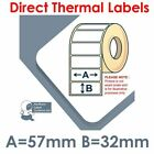 57mm x 32mm White Labels for REMOVABLE ADHESIVE