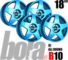 "18"" BOLA B10 BLUE 4 STUD 8.0J SET OF 4 NEW ALLOY WHEELS FIT Citroen DS5 11-ON"