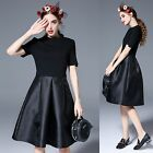 Women Short Sleeve Casual Evening Party Cocktail Mini A Line Little Black Dress