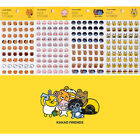 Kakao Friends Clear Face Sticker Diary Planner Calendar Cute Decor Scrapbook