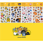 Kakao Friends Clear Action Sticker Diary Planner Calendar Cute Decor Scrapbook