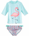 CARTER'S® Girls' 4-6X Flamingo 2-Pc. Rashguard Swim Set NWT