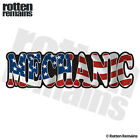 Mechanic Decal American Flag USA United States Auto Motorcycle Vinyl Sticker TCS