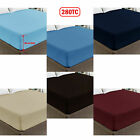 50cm Cotton Polyester Percale Deep Wall Fitted Sheet - KING image