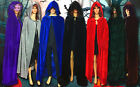 Halloween Costume Witchcraft Cape Gothic Hooded Velvet Cloak Wicca Robe Cosplay