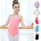 Girls Kids Ballet Leotard Unitards Dance Bodysuit Sleeveless Dancewear 5-12 Year