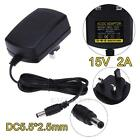 1m DC 15V 2A Power Supply Adapter Converter Wall Charger Cable AU/EU/UK/US Plug