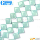 Natural Amazonite Gemstone Square Beads For Jewelry Making Free Shipping 15""