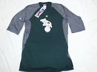 OAKLAND A'S ATHLETICS 3/4 SLEEVE FLEECE SHIRT MAJESTIC NEW SIZE MED OR LG MENS