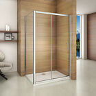 Aica New Sliding Shower Enclosure & Tray Door Walk In Screen Glass Cubicle