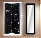 Mirrored Jewelry Cabinet Armoire Organizer Storage Box Ring Earring Necklace