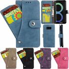 Luxury Retro Leather Rotatable Card Case Cover Fr Samsung Galaxy S7 Edge/S8 Plus