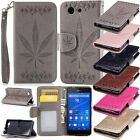 Maple Leaf Flip Leather Wallet w/Strap Stand Case Cover For Sony Xperia Models
