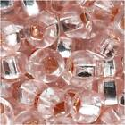 Czech Seed Beads 6/0 Light Rose Pink Silver Lined (1 Oz