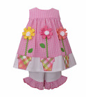 BONNIE JEAN® Girls' 2T, 3T, 4T Seersucker Flower Pot Dress Set NWT