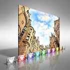 Historical Architecture In The Street Of The Old Town In Edinburgh Canvas Print