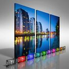 Salford Quays Skyline Treble Canvas Print Large Picture Wall Art