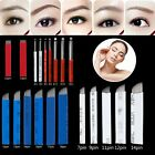 10/50Pcs Permanent Microblading Eyebrow Tattoo Curved Blade 7/12/15/18 Needles