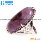 Natural 20x30mm Oval Gemstone Fashion Silver Plated Finger Ring Free Shipping