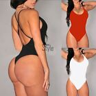 Sexy Women Sleeveless Swimwear Ladies Bodysuit Leotard Top Backless Jumpsuit AK@
