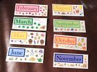 Creative Memories Stickers MONTHS of the Year.  You Pick