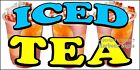 (CHOOSE YOUR SIZE) Iced Tea DECAL Concession Food Truck Vinyl Sign Sticker