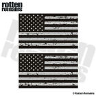 Tattered American Subdued Flag USA Military Vinyl Stickers Decals SET (RH) TCS