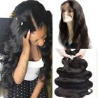 360 Full Lace Frontal With Bundles Brazilian Malaysian Indian Virgin Human Hair