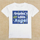 BOYS GIRLS INFANT TODDLER YOUTH WHITE TSHIRT CREEPER GRANDMA'S LITTLE ANGEL