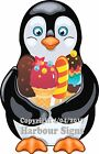 (Choose Your Size) Penguin with Ice Cream Treats  DECAL Food Truck Concession