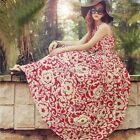 Sexy Women Summer Boho Long Maxi Evening Party Dress Chiffon Beach Dresses YA424