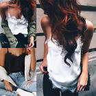 New White Women Summer Lace Vest Top Sleeveless Casual Shirt Blouse Tank T-shirt