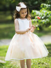 Wedding Flower Girl Princess Ball Gown Party Tutu Puffy Dress with Bows SALE