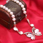 AA 10-11 mm white natural freshwater pearl necklace Opals accessories