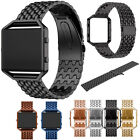 Stainless Steel Wrist Watch Band Strap + Frame Case For Fitbit Blaze Tracker NEW